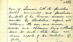 School log book entry, 2 September 1914 (TWAM ref. E.WH2/2/3)