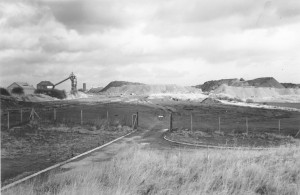 Removal of Washington 'F' Pit heap nearing completion, 1971 (TWAM ref. 5417/120/3)