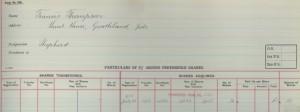 Entry from register of 5 per cent Second Preference Shareholders, 1914 (TWAM ref. DS.VA/1/57/7)
