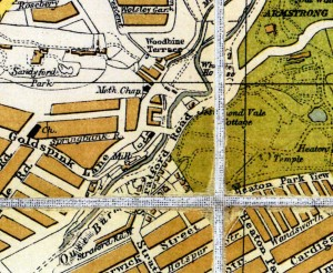 Bacon's Map Newcastle 1920 Jesmond Vale detail1
