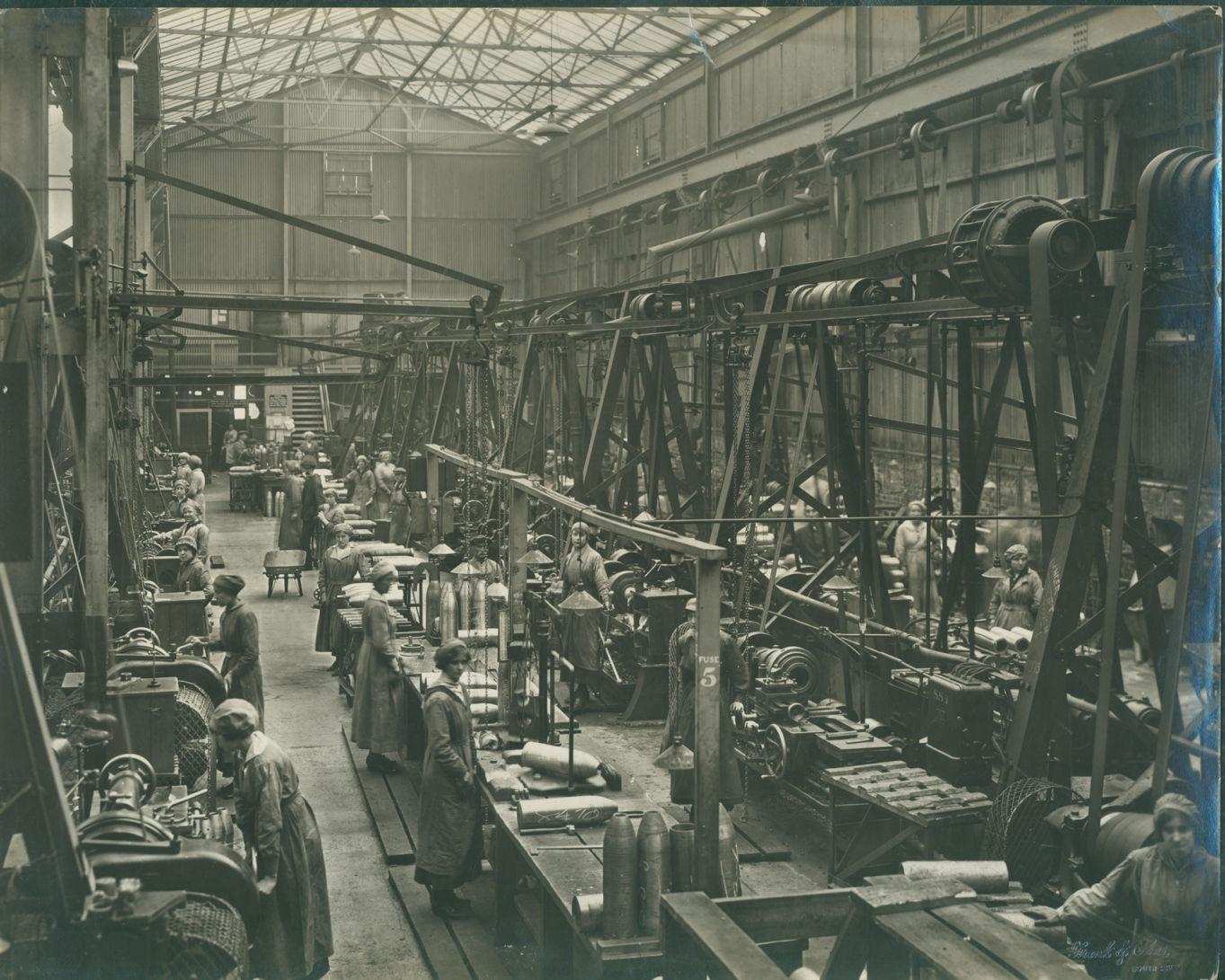General view of Neptune Shell Shop October 1917