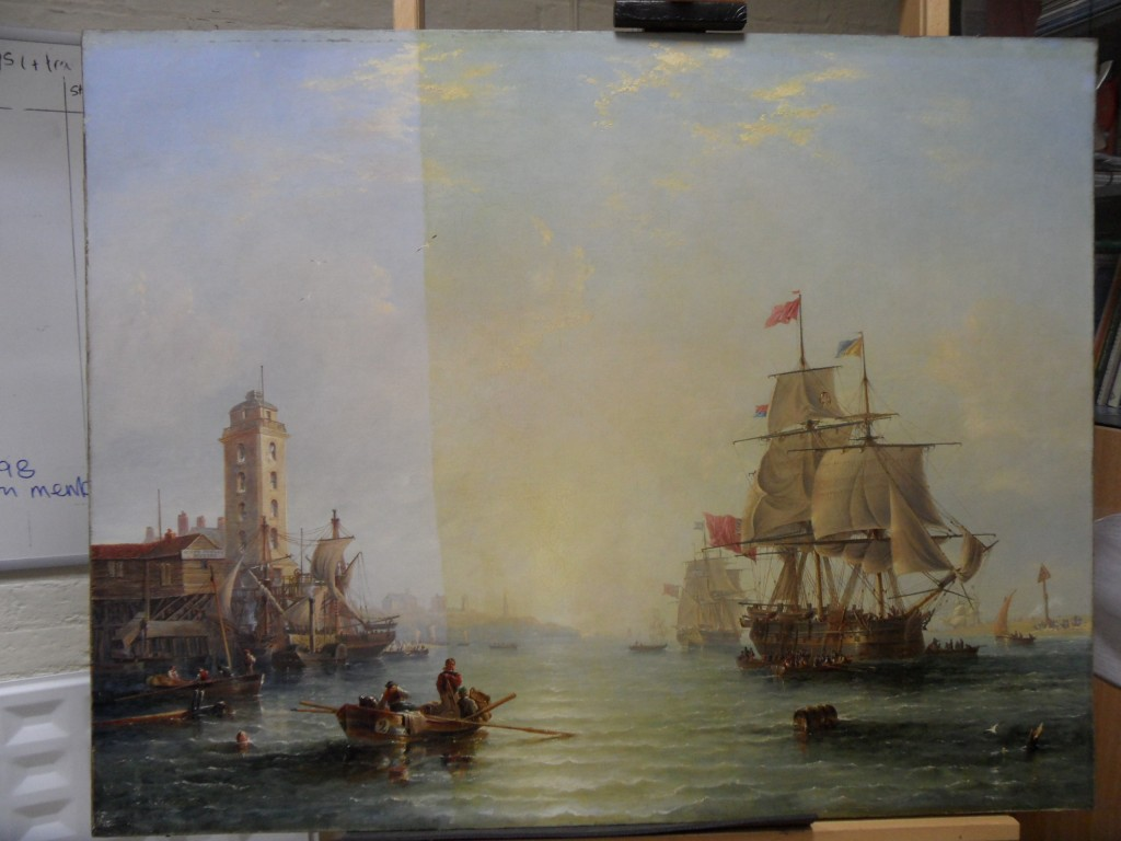 hear is a carmichael painting during varnish removal