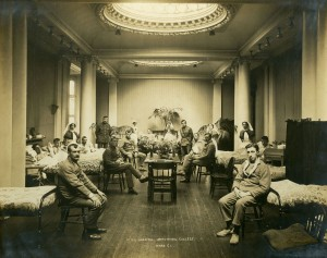Ward C1, 1st Northern General Hospital during the First World War was housed in what is now the Hatton Gallery (image by permission of Robinson Library Special Collections, Newcastle University)