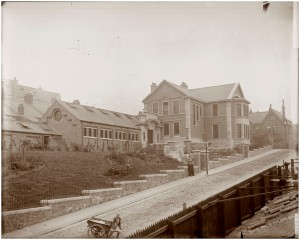 Swan Hunters staff institute as seen from the bottom of Swans Bank, around  1914