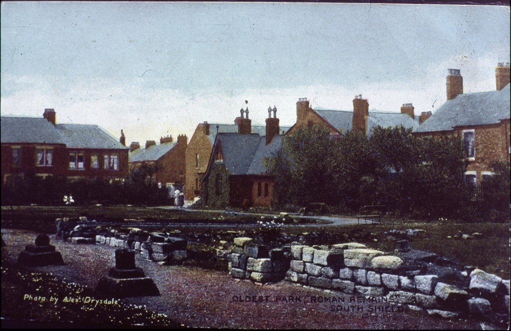 A view of the Roman Remains and People's Park, around 1905