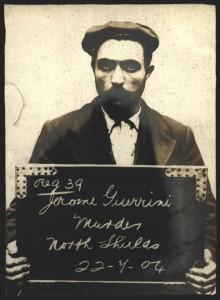 Mugshot of Jerome Guerrini, 1904 (TWAM ref. DX1388/1).