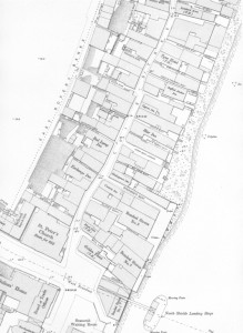 Ordnance Survey map showing Clive Street, North Shields, scale 1:500