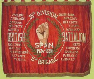 British Battalion banner