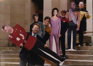 Taken during the Star Trek exhibition in 2001. Photo by Mike Blenkinsop Studios