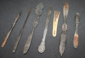 Collection of Papua New Guinean lime spatulaes.  © TWAM