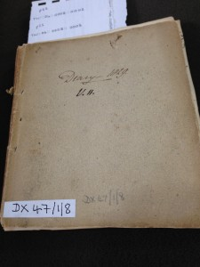 Diary of a Doctor 1826-29. Courtesy of Tyne and Wear Archives Ref: DX47/1