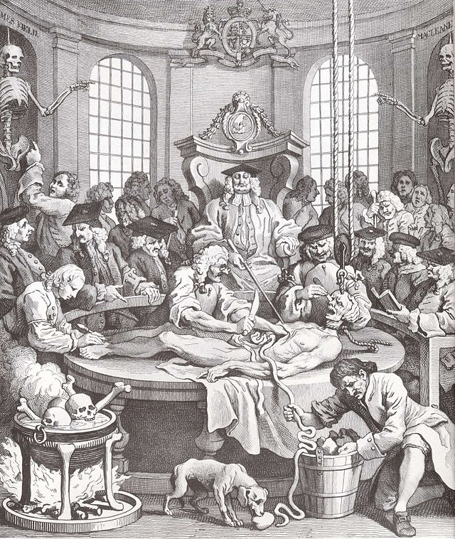 William Hogarth's The Reward of Cruelty. Plate IV in the Series