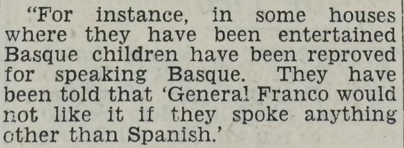 basque children reproved
