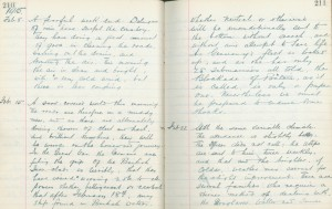 Whitburn School log book entry, 15 February 1915 (TWAM ref. E.WHB2/2/3)