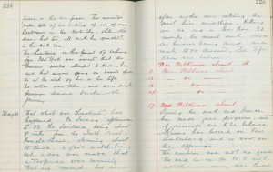 Whitburn School log book entry, 10 May 1915 (TWAM ref. E.WHB2/2/3)