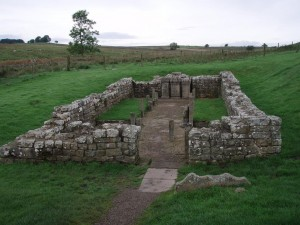 Carrawburgh Mithraeum, 2015: no badgers seen today.