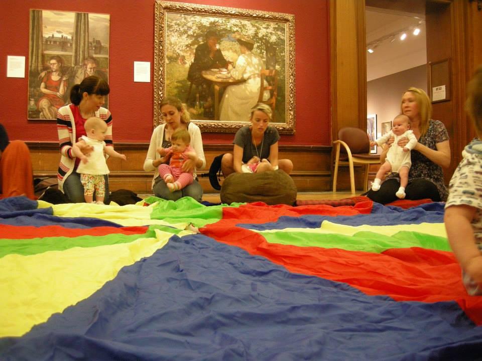 Parachute games at Creative Baby!