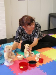 Goldilocks and the Three Bears storysack brought to life by Claudia