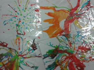 Salad spinner artwork - laminated to make beautiful placemats