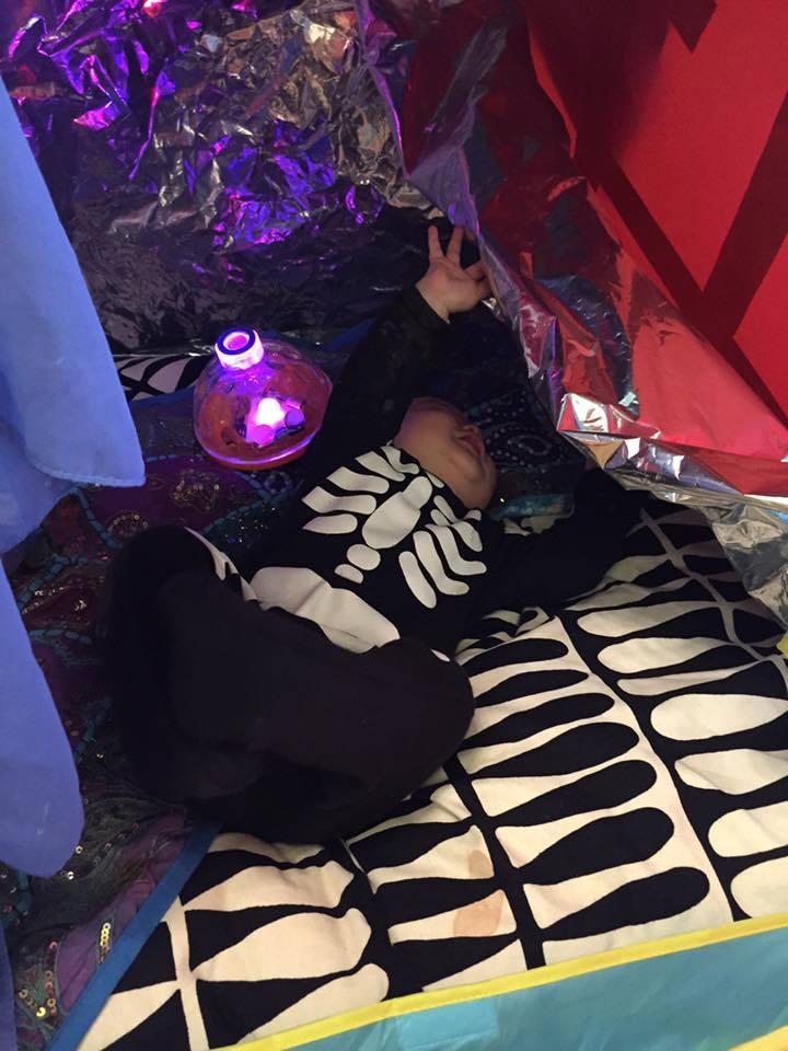 Changing colour light tent - photo Sarah Batsford