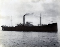 2. Photograph of ss Lady Strathcona on trials 1904. The problem posed by smoke from the funnel is obvious. Renamed Wairuna she was captured by the German surface raider SMS Wolf and scuttled with explosives 17/06/1917. (TWCMS : G7951G)
