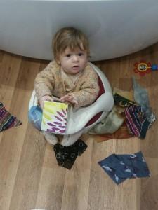 Fabric pull-box - photo Jenny Wade
