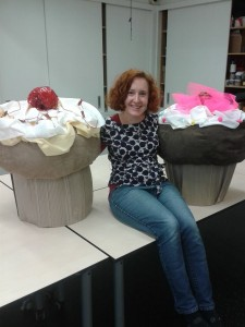 Giant cupcakes for Creative Baby!