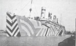 7.Photograph of the port side of RMS Olympic used by Wilkinson. This image illustrates very well the principle of carrying the starboard side design around the bow.