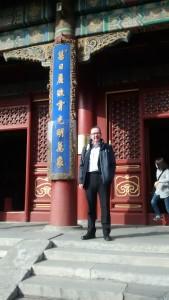 Iain Watson at the Lama Temple Beijing