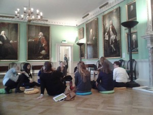 Learning about early years projects at the Foundling Museum