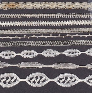 Copy of 17th century lace made by author with bobbin-made tapes