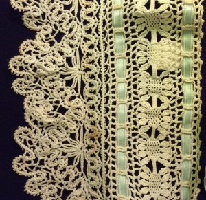 Detail of a tape and crochet lace yoke - TWCMS_J8104