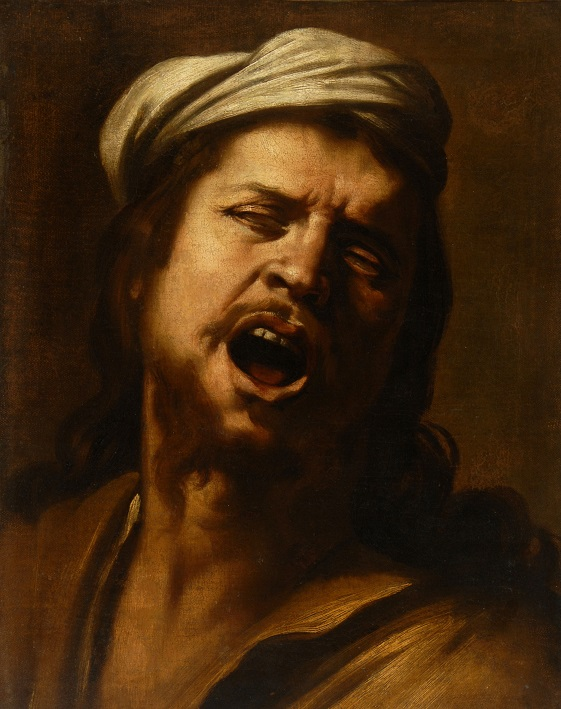 Painting, colour portrait of man wearing soft hat, Renaissance-style costume