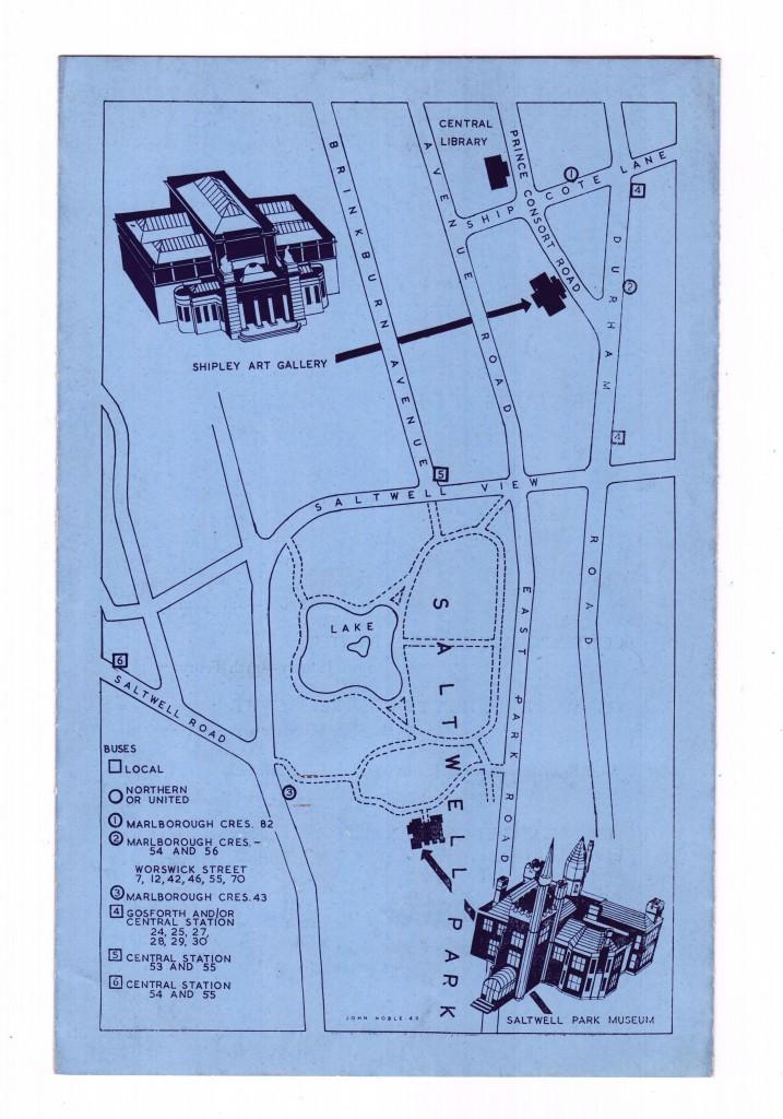 Saltwell Park Museum 1955 Brochure back