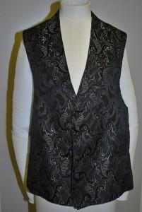 black silk grosgrain waistcoat