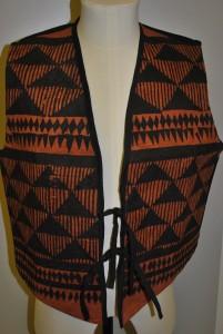 TWCMS: 1994.704 - brown silk and velvet waistcoat