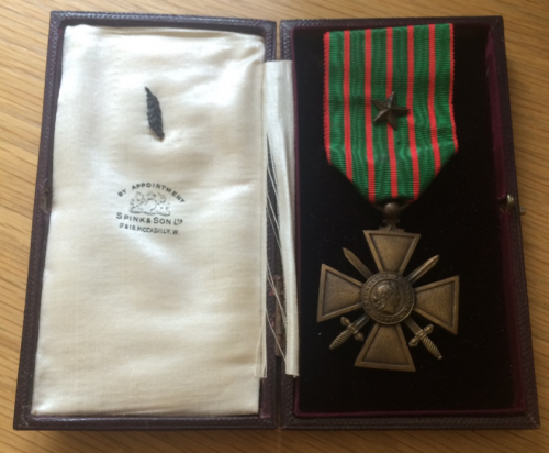 Croix de Guerre medal of Miss K.M. Hancock