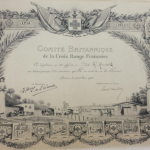 French Red Cross certificate for Miss K.M Hancock