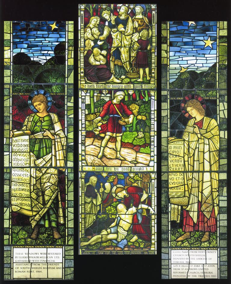 Stained glass at South Shields Museum and Art Gallery