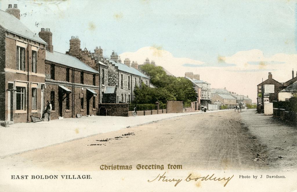 A postcard view of East Boldon village