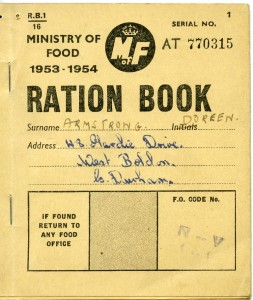 A ration book, 1953-54