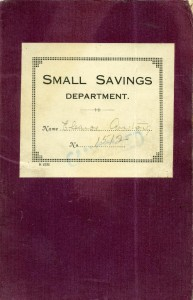 A Boldon Industrial Co-operative Society Small Savings Bank book, 1933