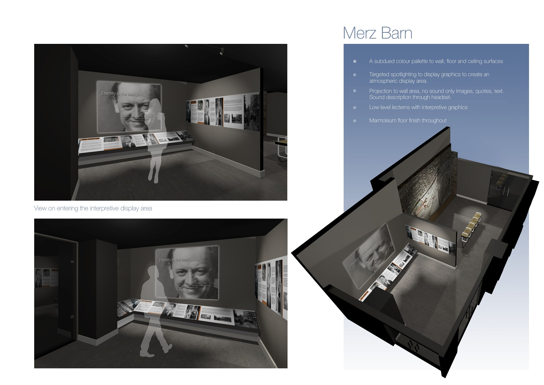 Artist design for interior exhibition space