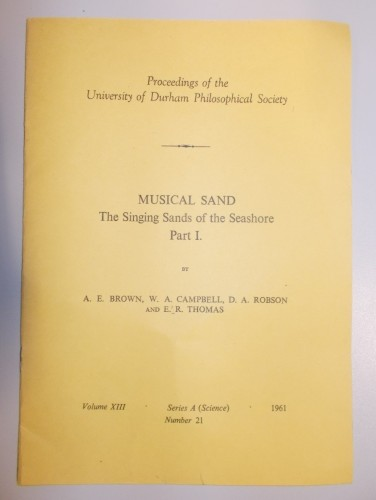 MUSICAL SAND Part 1: The Singing Sands of the Seashore.