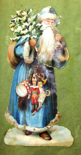 Late Victorian/Early Edwardian cut out of Santa Claus TWCMS : 2011.775