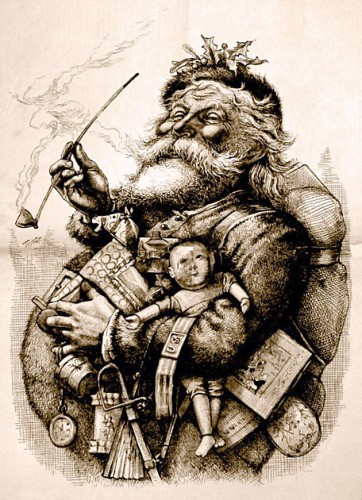 Thomas Nast Santa illustration 1881