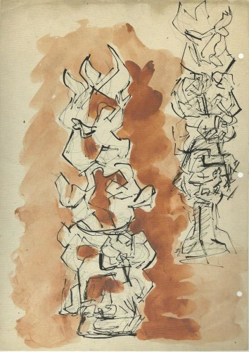 Lipchitz, Jacques, Study for Between Heaven and Earth