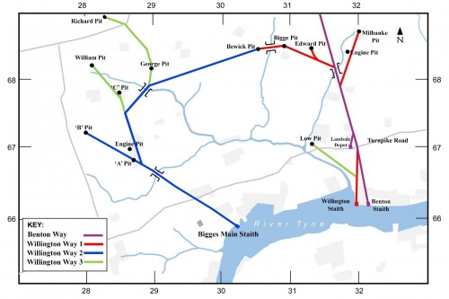 Willington Waggonway Route