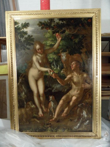 G1184 the temptation of Adam and Eve) full front in reflected light