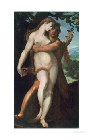 This painting is of the same subject entitled Fall of man' by Bartomeus Spranger who was Wtewael's tutor.